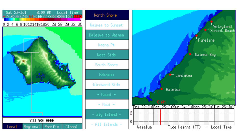 North Shore All Nearshore Chart Surfline Com