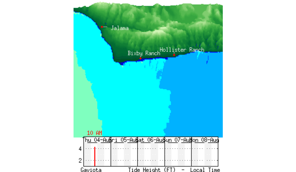 Jalama To The Ranch Nearshore Chart Surfline