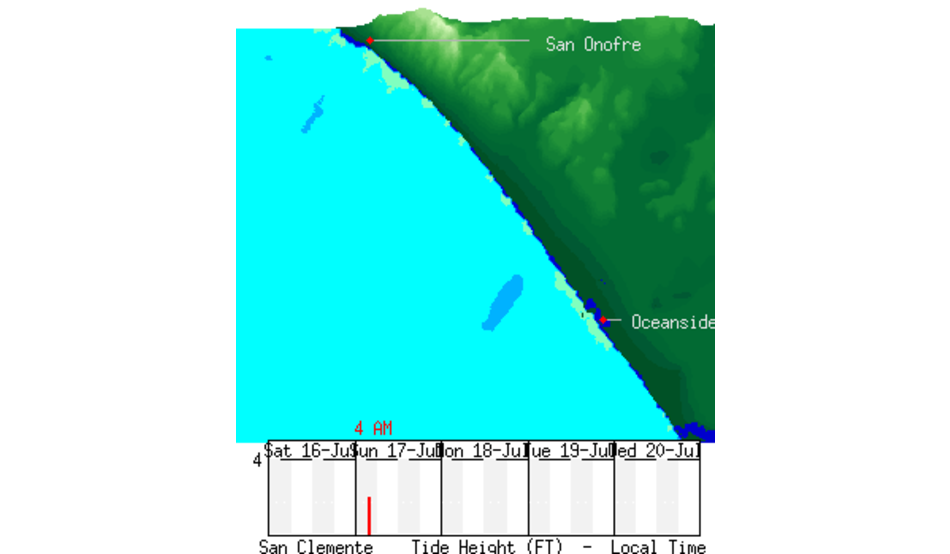 San Onofre To Oceanside Nearshore Chart Surfline